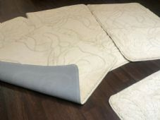 ROMANY WASHABLE TRAVELLERS MATS SET NON SLIP SUPER THICK RUGS CREAM GYPSY MATS